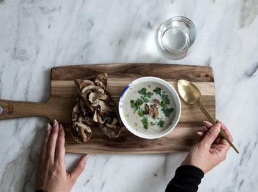 Foodlab - Vi har lavet Jamie Olivers svampesuppe