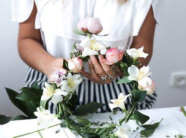Sankt Hans - Vi har lavet midsommer blomsterkranse