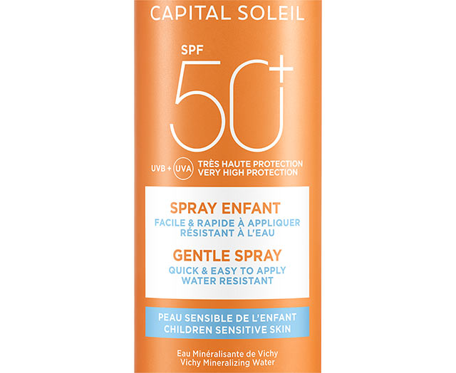 Solspray til børn SPF 50+, ansigt og krop